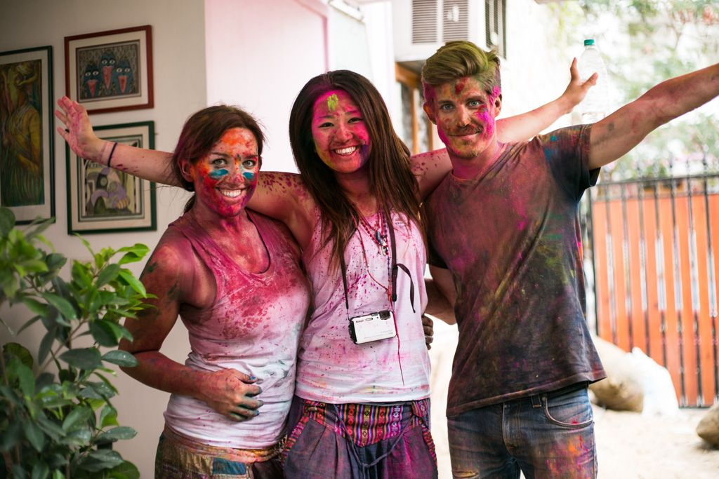 holi in jaipur india