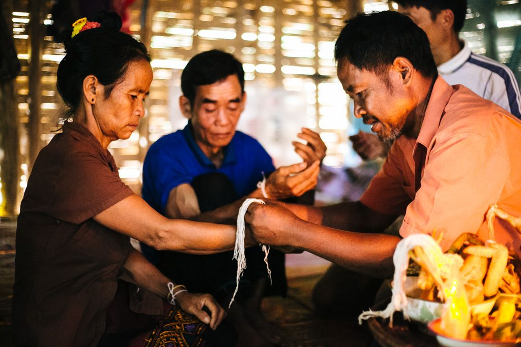 Laos village ceremony