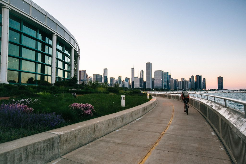 Biking Around Lake Michigan in Chicago