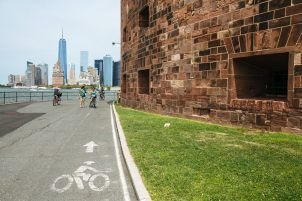 Biking Governors Island