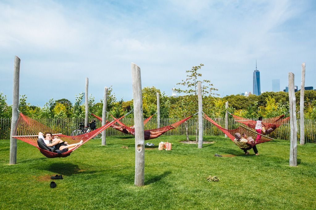 Hammocks on Governors Island