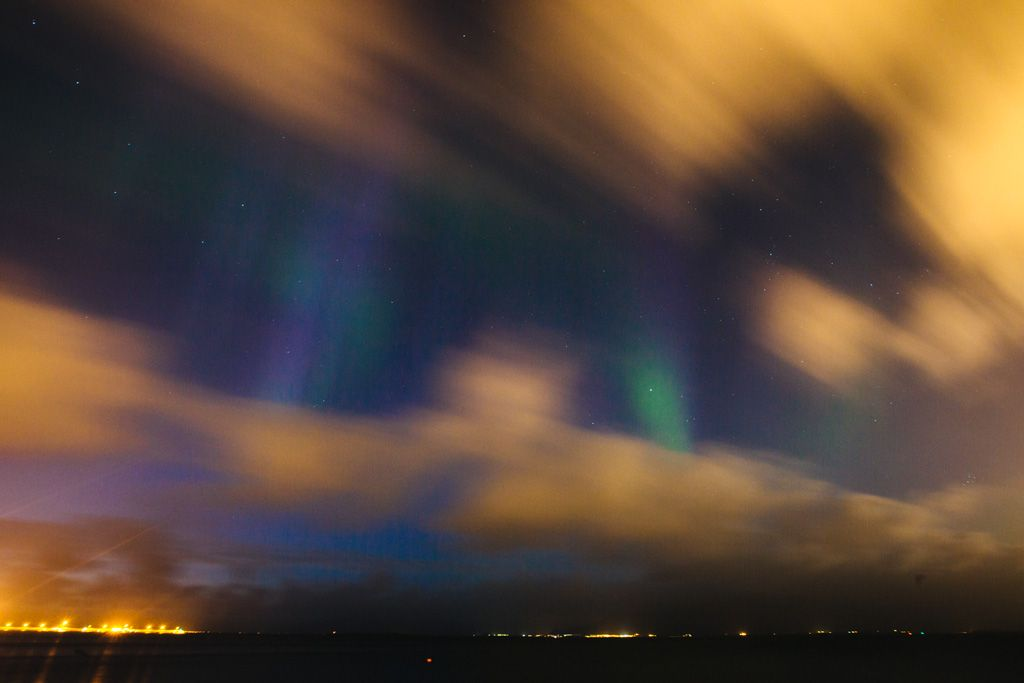 Northern Lights in Reykjavik, Iceland