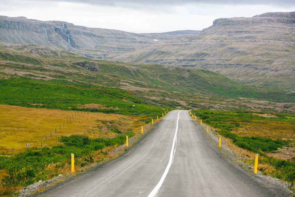 The road in Iceland