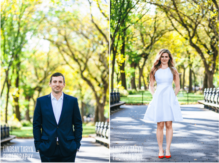 Central Park fall foliage wedding