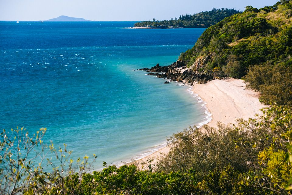 Camping on South Molle Island in the Whitsundays