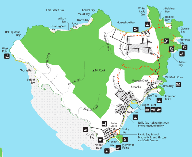 Magnetic Island Map All Of The Magnetic Island Beaches: A Photo Tour | Frugal Frolicker