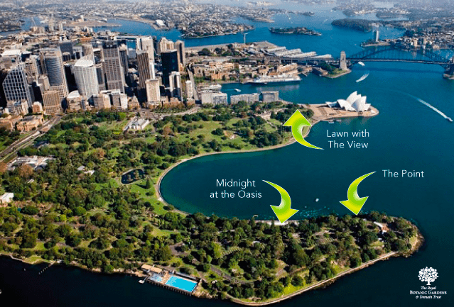 Sydney New Years Eve fireworks map