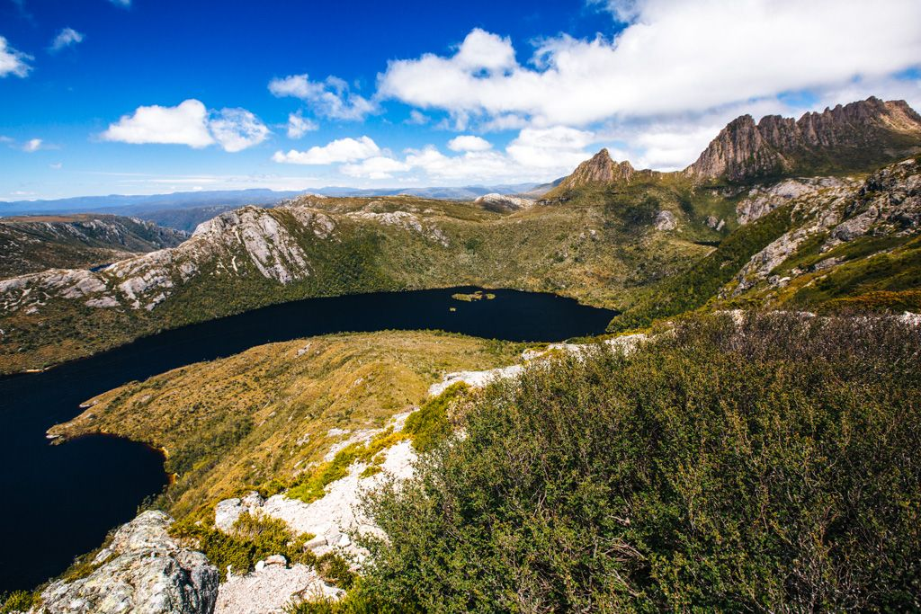 Cradle Mountain on the Overland Track in Tasmania