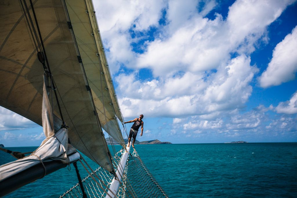 Whitsundays sailing on Solway Lass