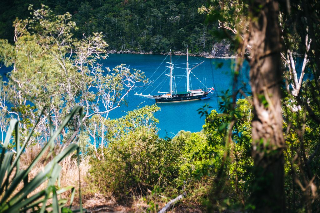 Solway Lass sailing in the Whitsundays