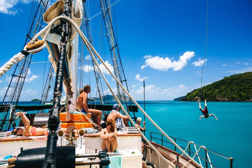 Whitsundays sailing trip on Solway Lass