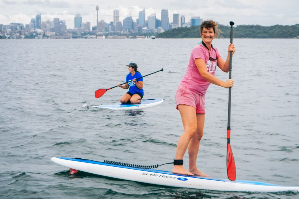 Stand up paddleboarding in Sydney Australia