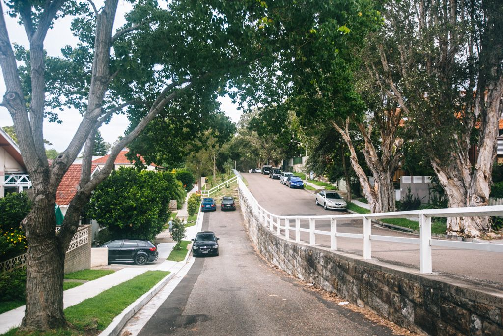 Bondi Beach road