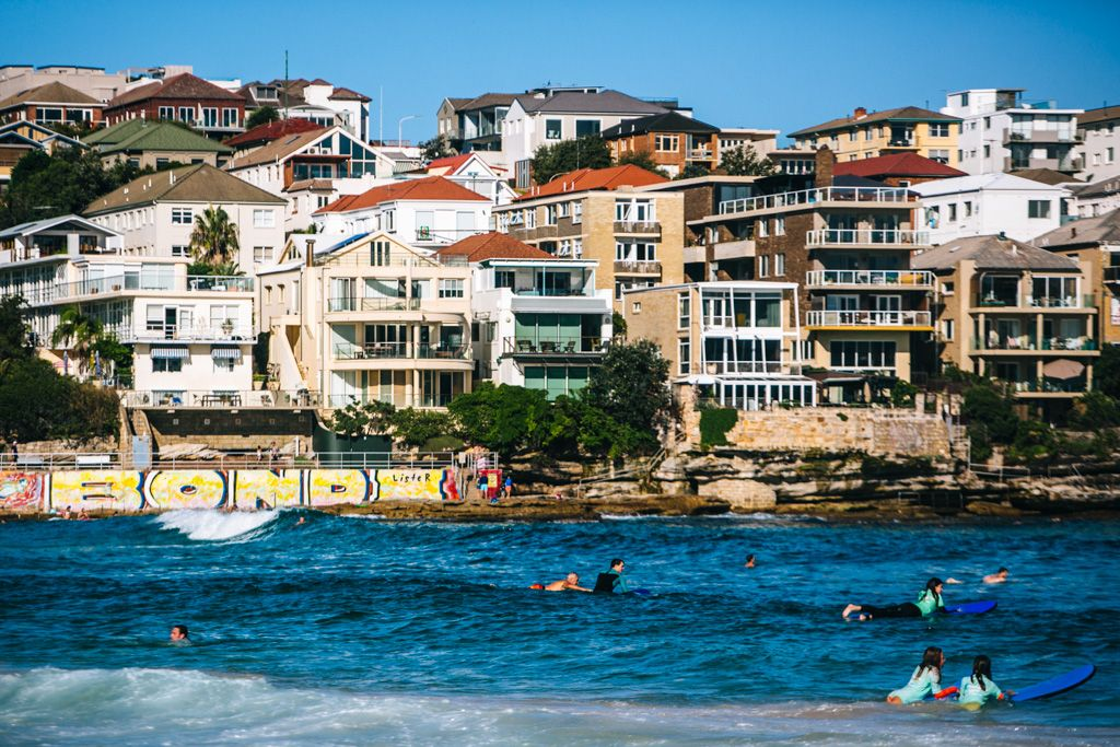 Bondi Beach swimming