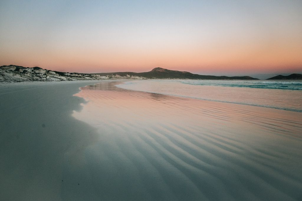 Sunset at Lucky Bay in Cape Le Grand National Park, Western Australia