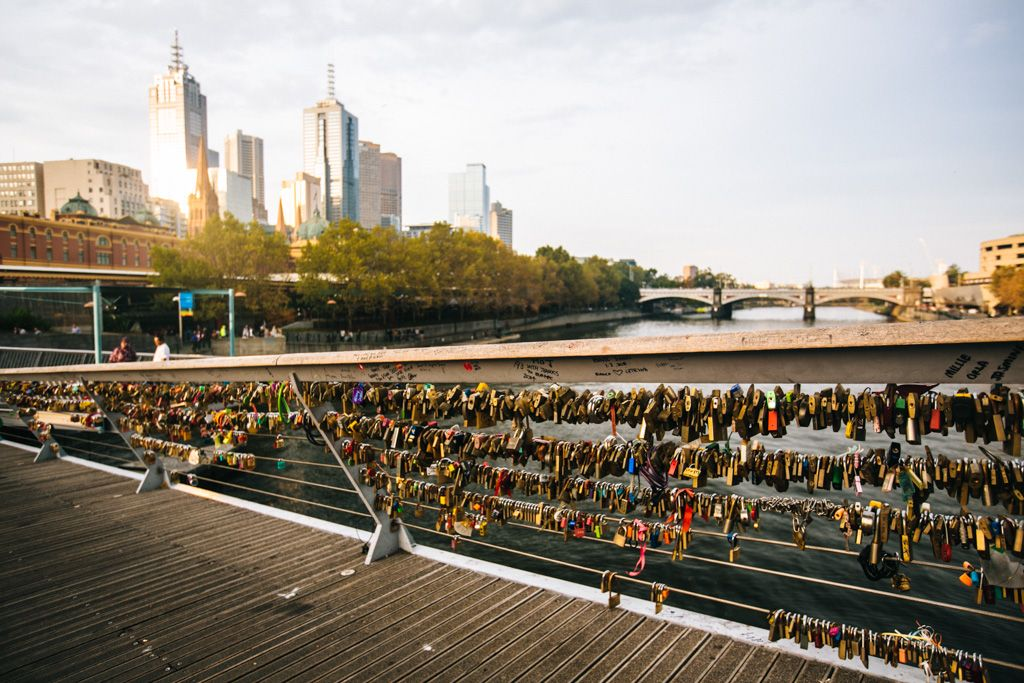 Love locks in Melbourne