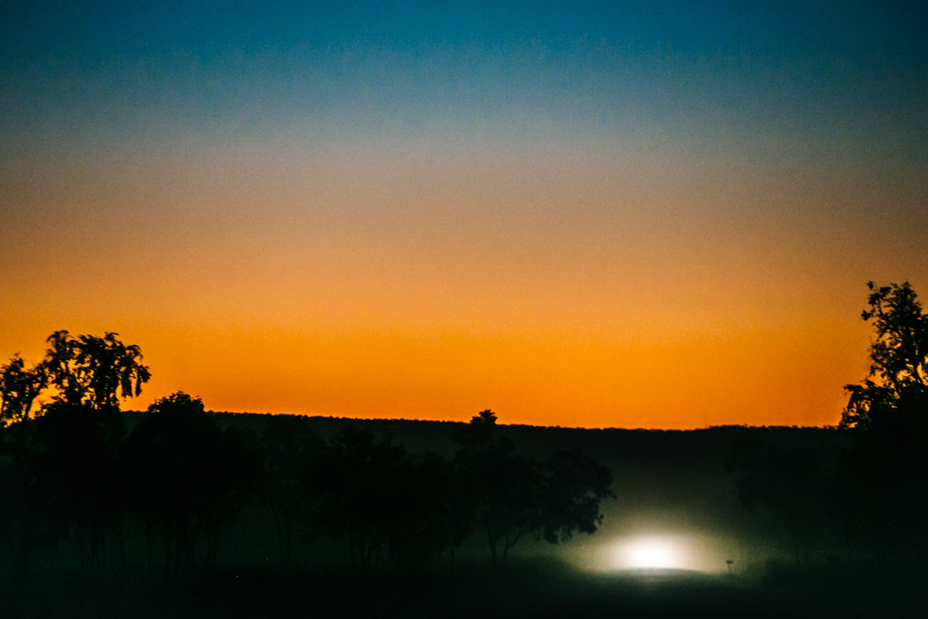 Outback sunset - Australia work and holiday visa
