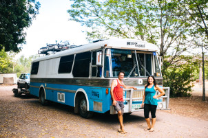 Australia roadtrip on a converted bus