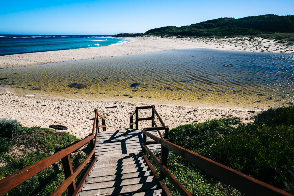 River Mouth Beach in Margaret River, Australia