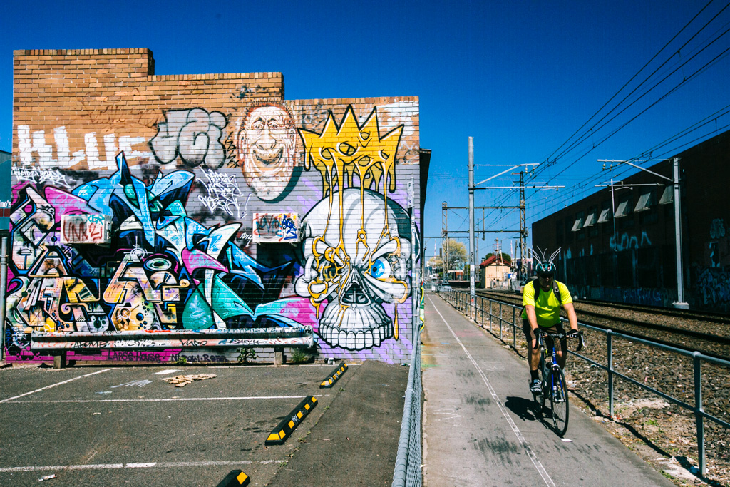 Cycling in Brunswick Melbourne