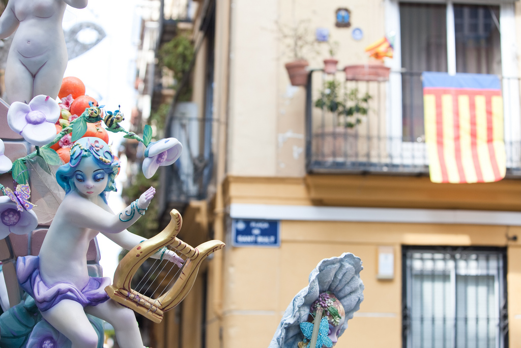 Las Fallas in Valencia, Spain
