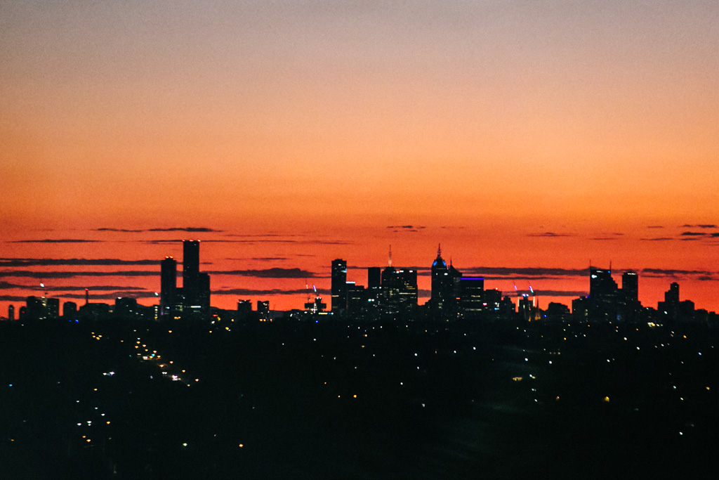 View of Melbourne from Lower Templestowe