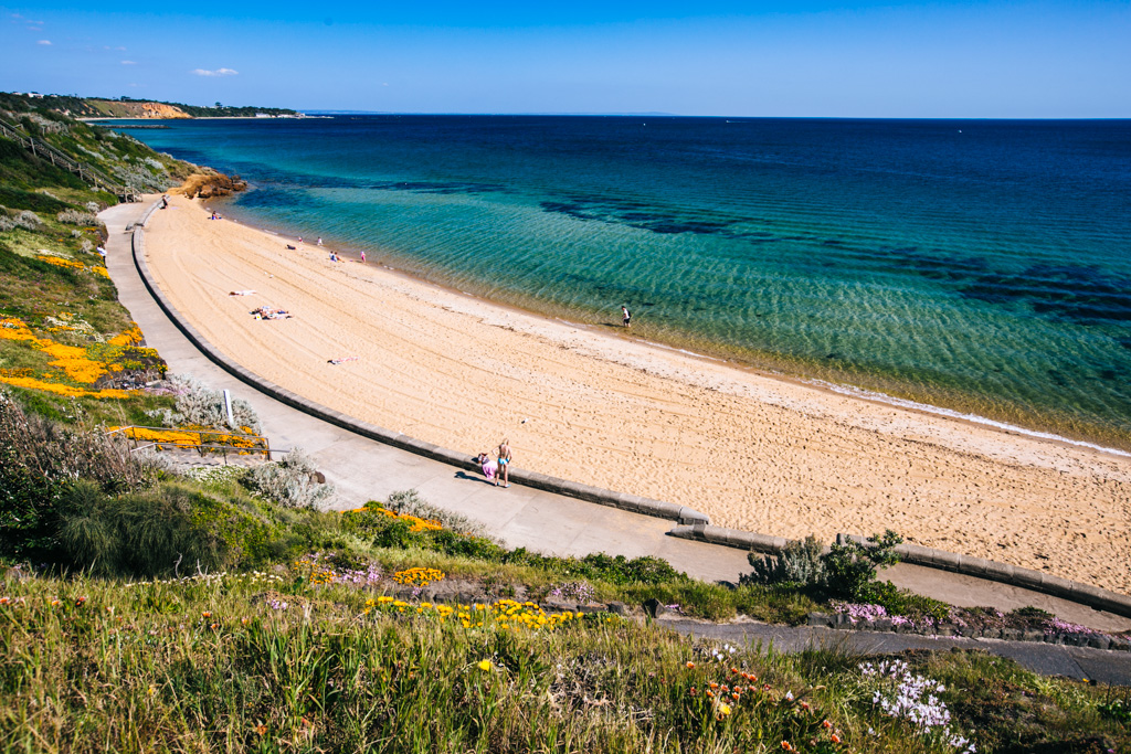 Sandringham beach in Melbourne