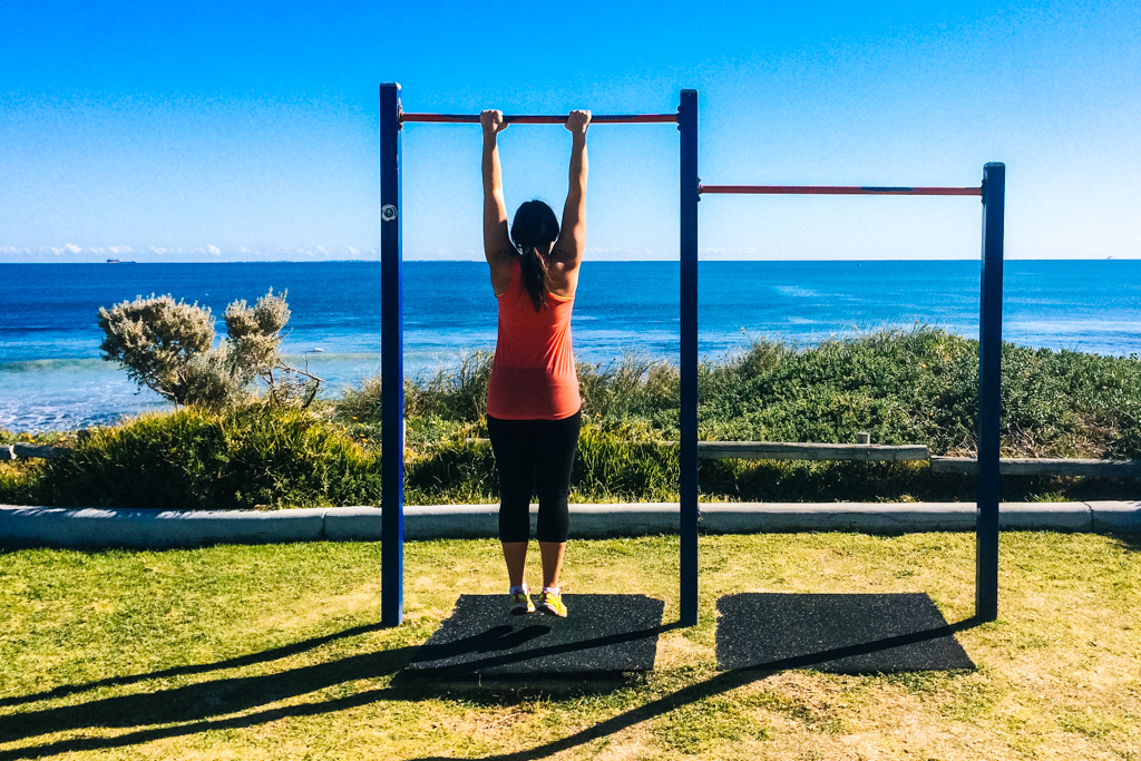 Working out at the beach in Perth
