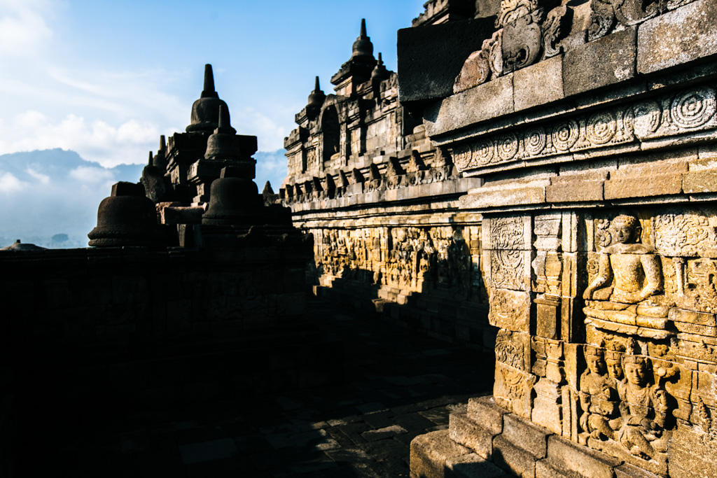 Borobudur temple in Java Indonesia