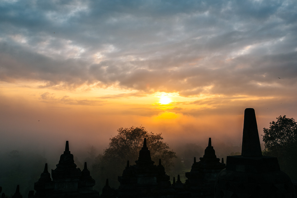 Sunrise at Borobudur