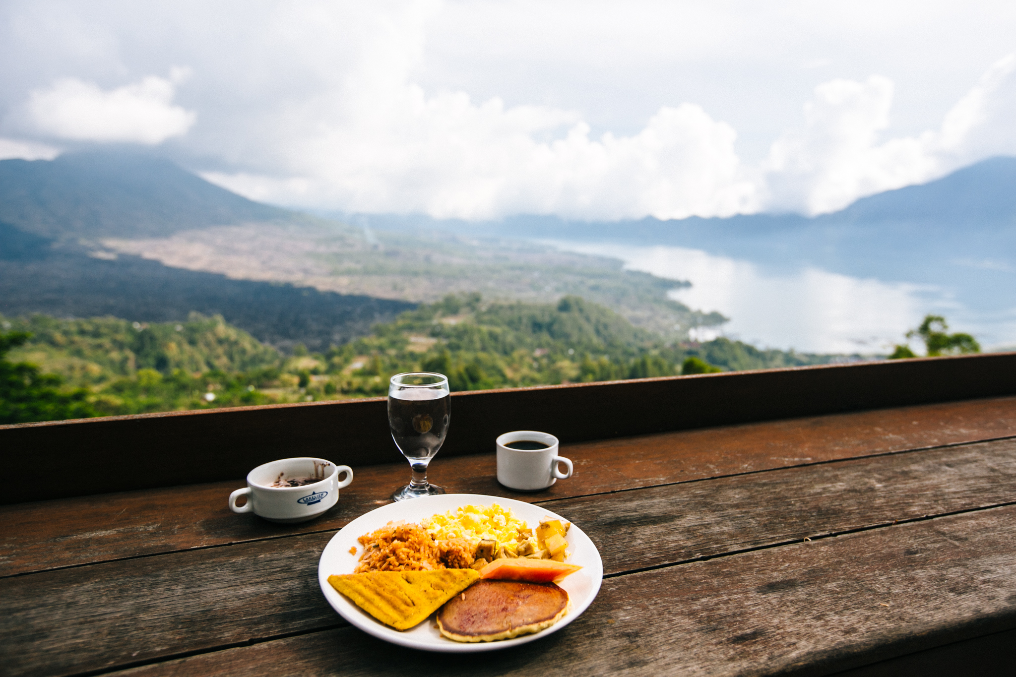 Breakfast at Mt Batur