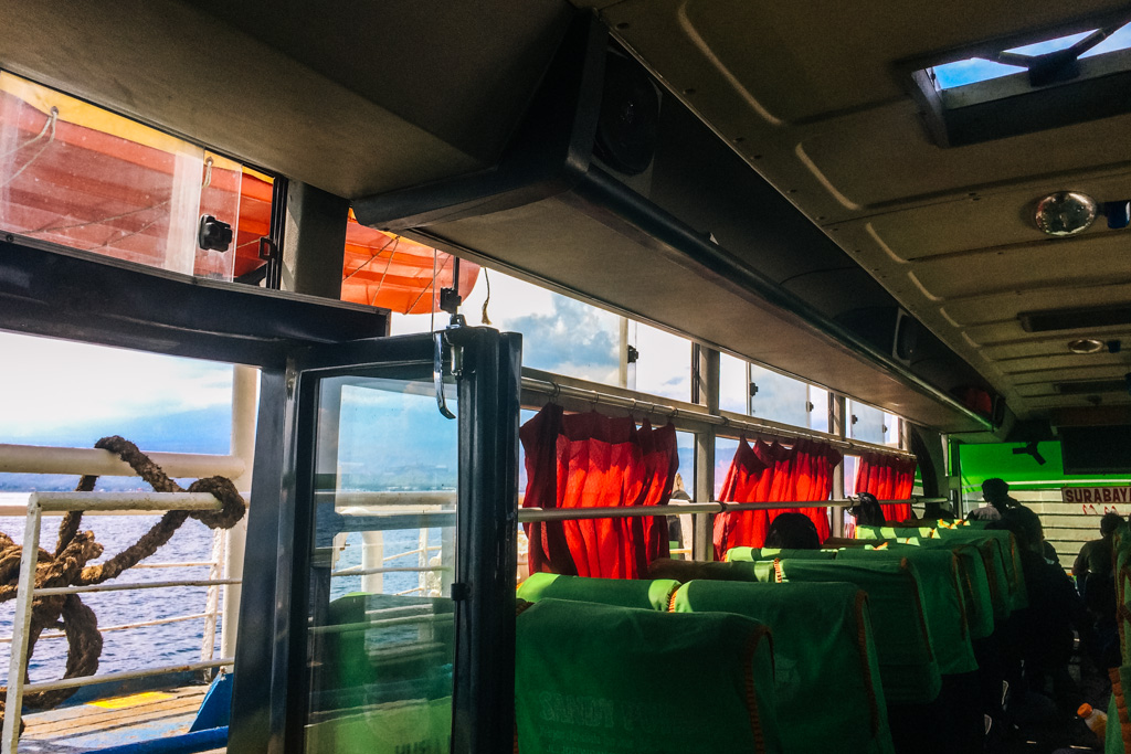 Bus from Java to Bali