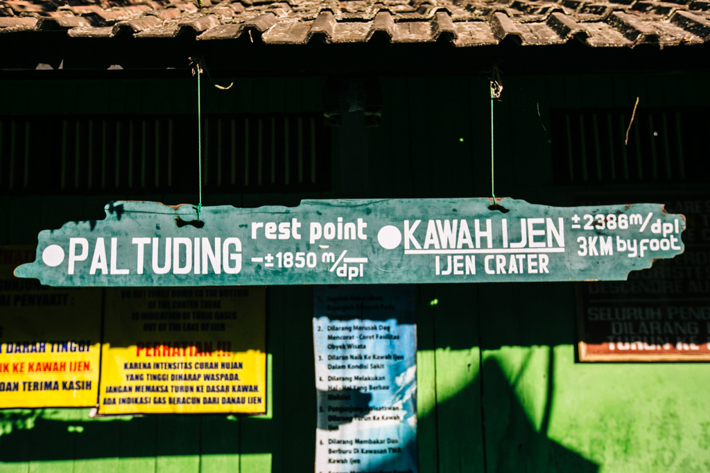 Hiking to Kawah Ijen