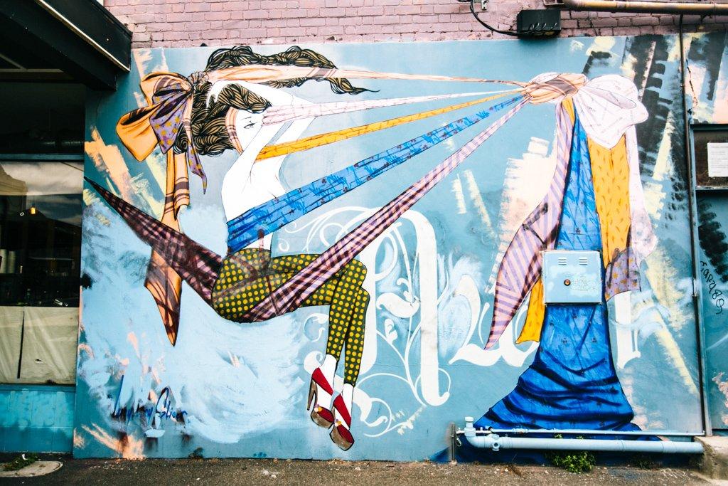 Melbourne street art in Collingwood