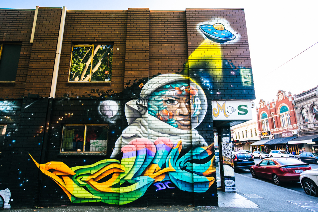 Melbourne street art in Fitzroy