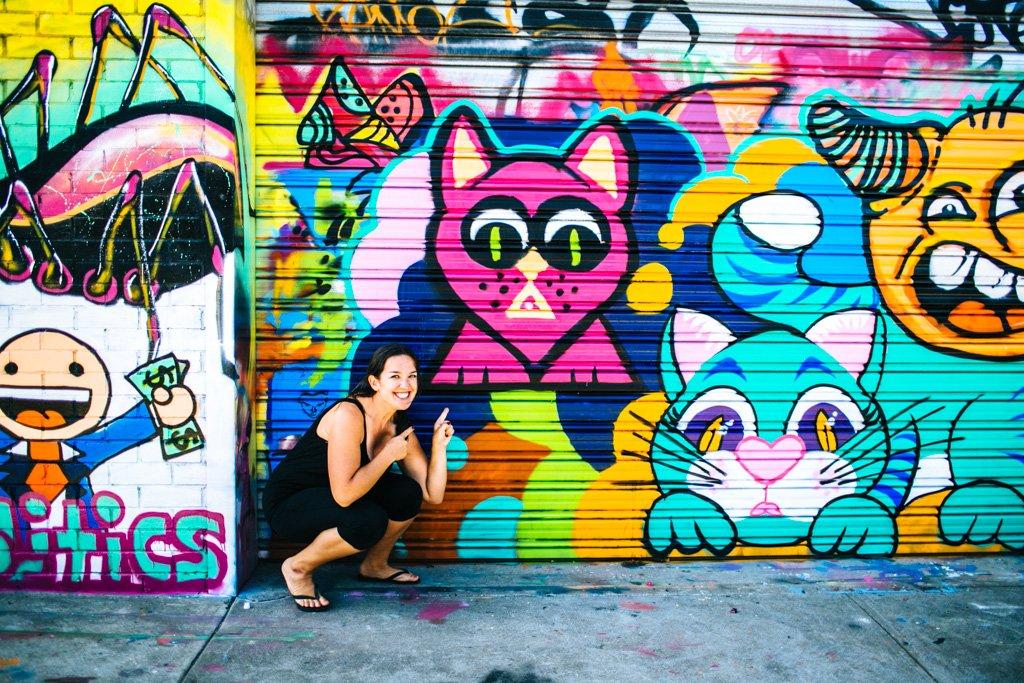 Street art class in Melbourne