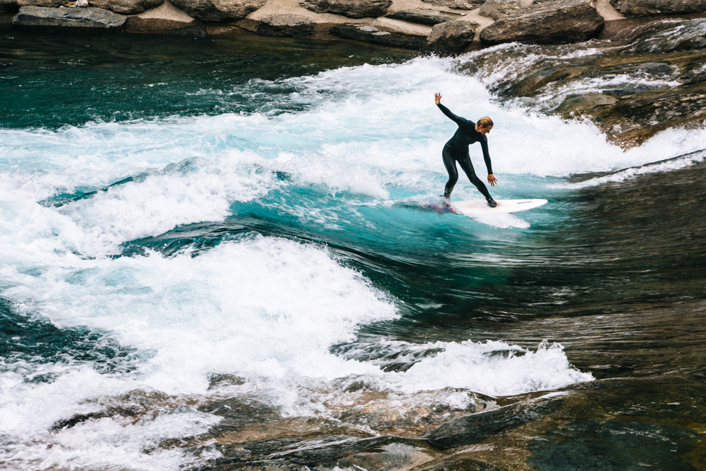 River surfing in NZ