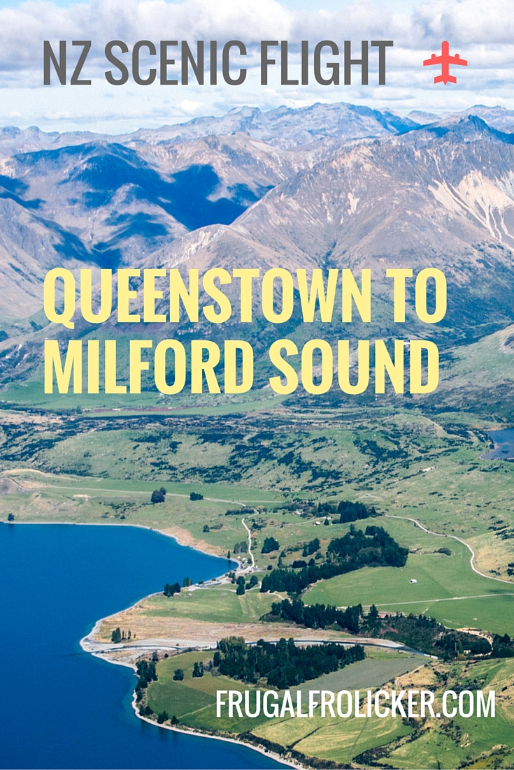 Scenic Flight from Queenstown to Milford Sound in NZ