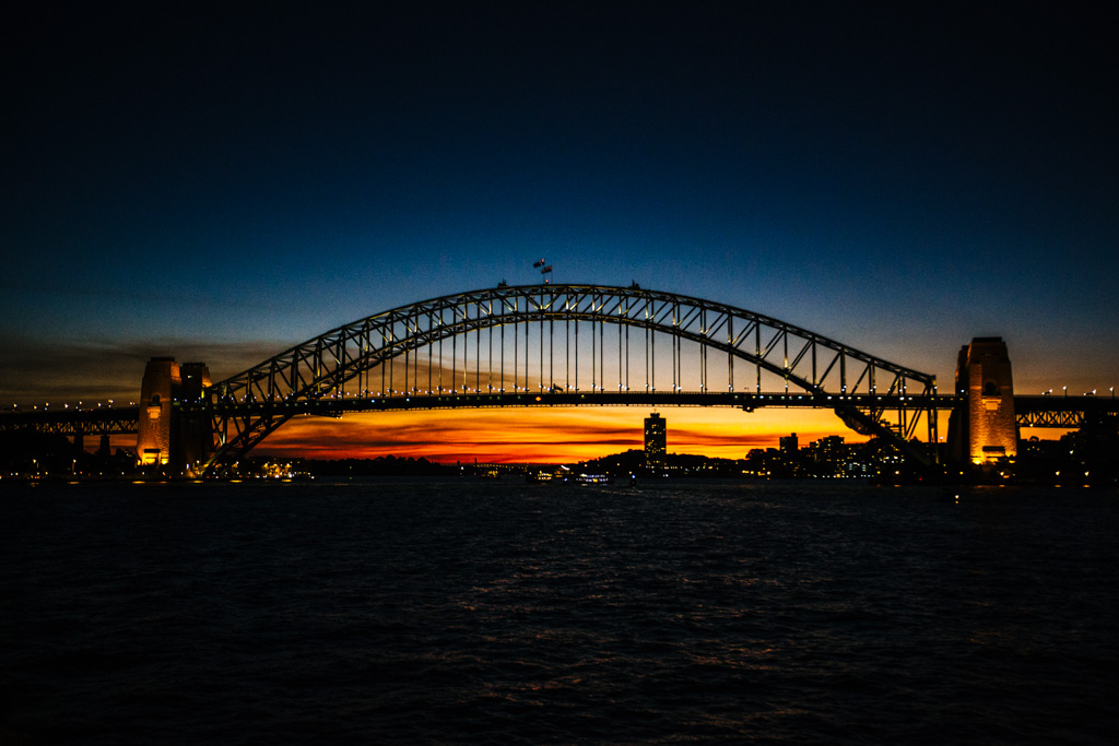 Manly ferry sunset