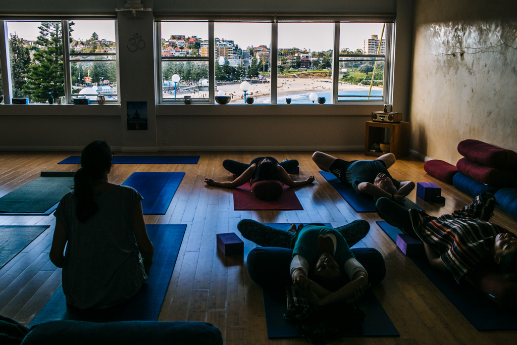 living room yoga coogee