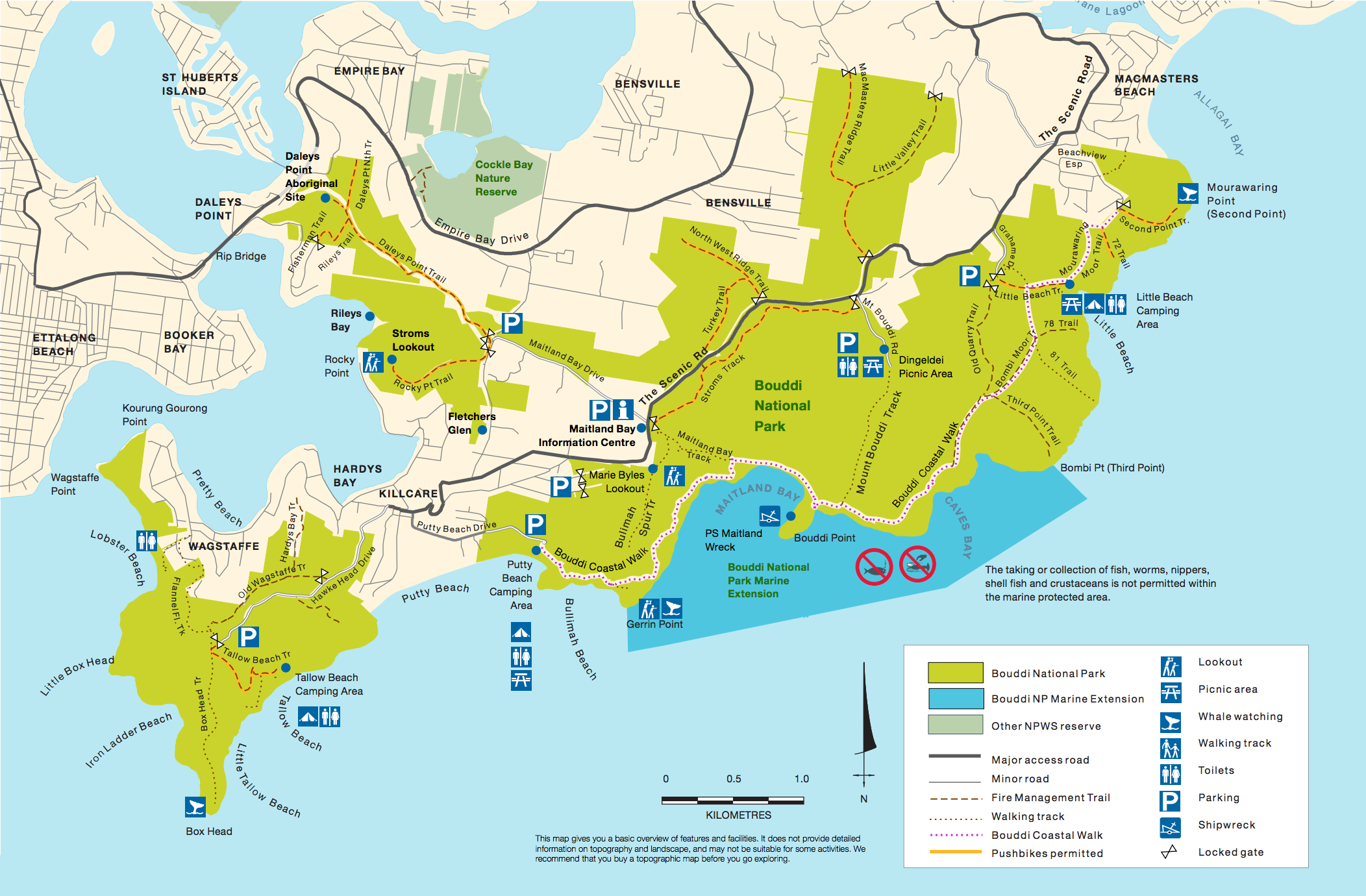 bouddi coastal walk map