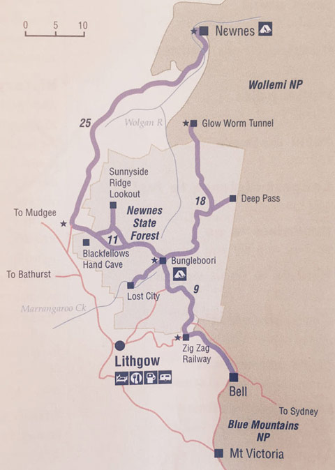 blue mountains 4wd maps