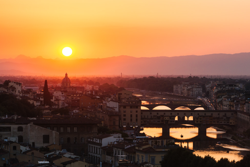 florence sunset piazzale michelangelo