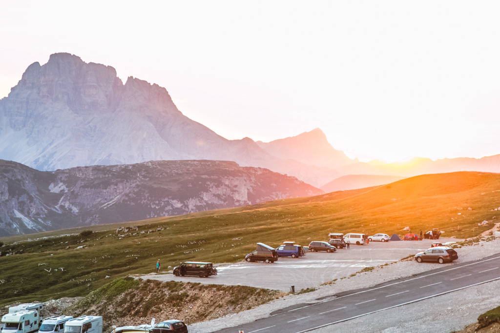 tre cime parking lot