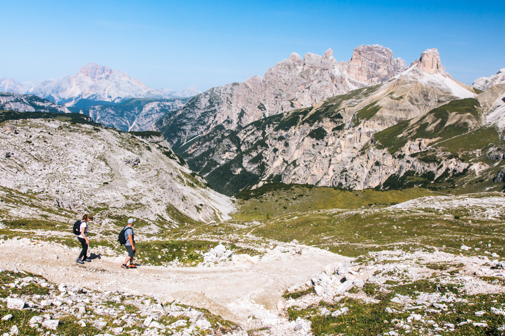 hiking dolomites