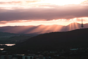 mt. ainslie sunset