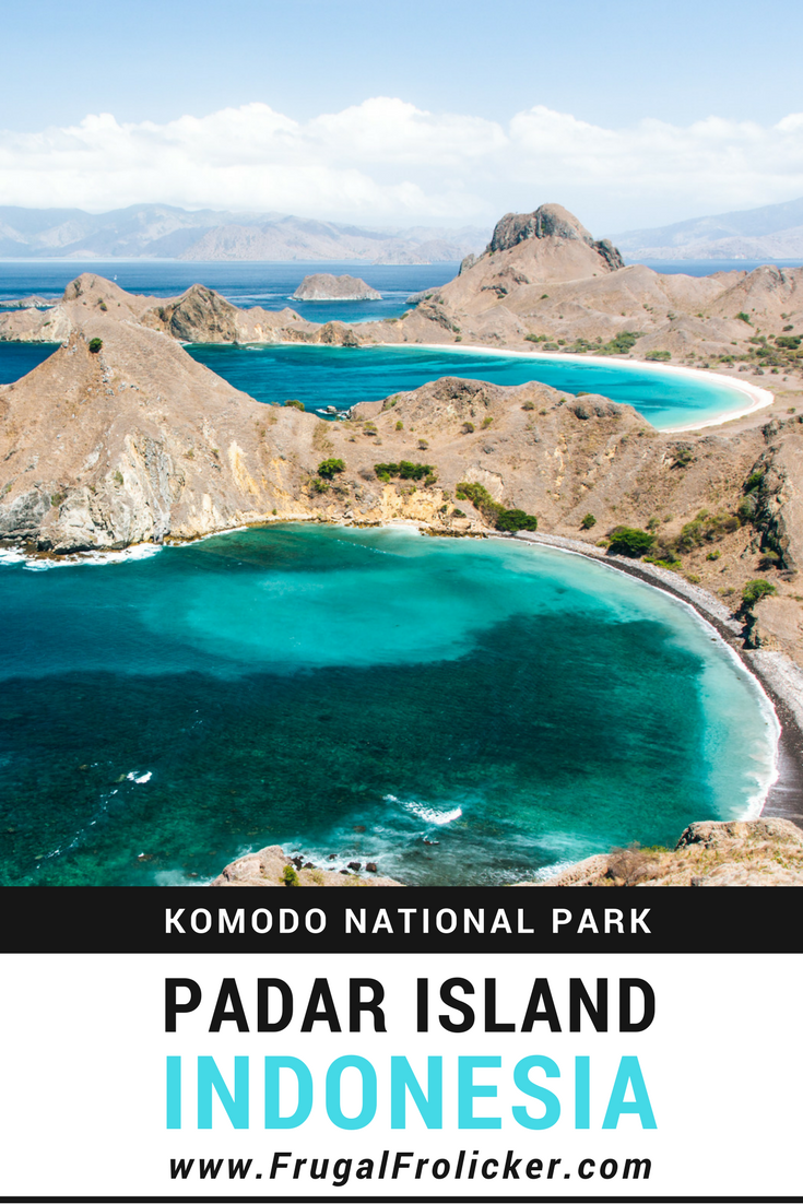 Padar Island hike in Komodo National Park, Indonesia