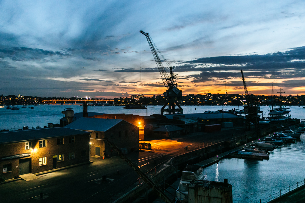 cockatoo island sunset