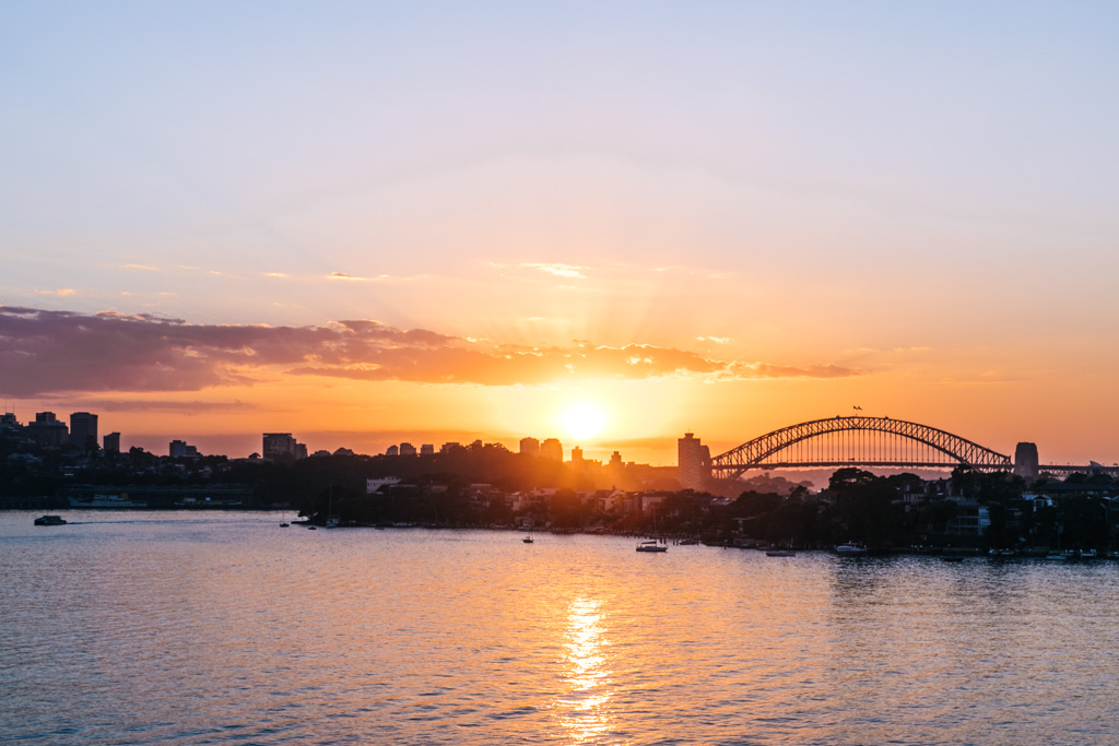 sunrise from cockatoo island