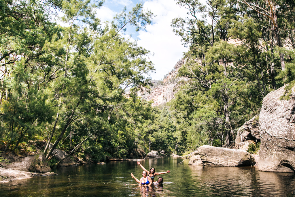 wollemi national park swimming
